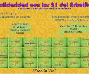 Solidarízate con los 21 del Arbolito