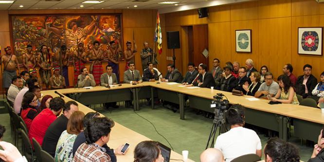 La Confederación de Nacionalidades Indígenas del Ecuador saluda a la Universidad Andina Simón Bolívar