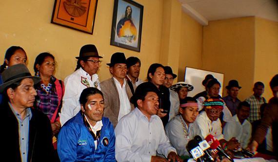 Responsables de la continuidad histórica de lucha de los Pueblos y Nacionalidades Indígenas del Ecuador