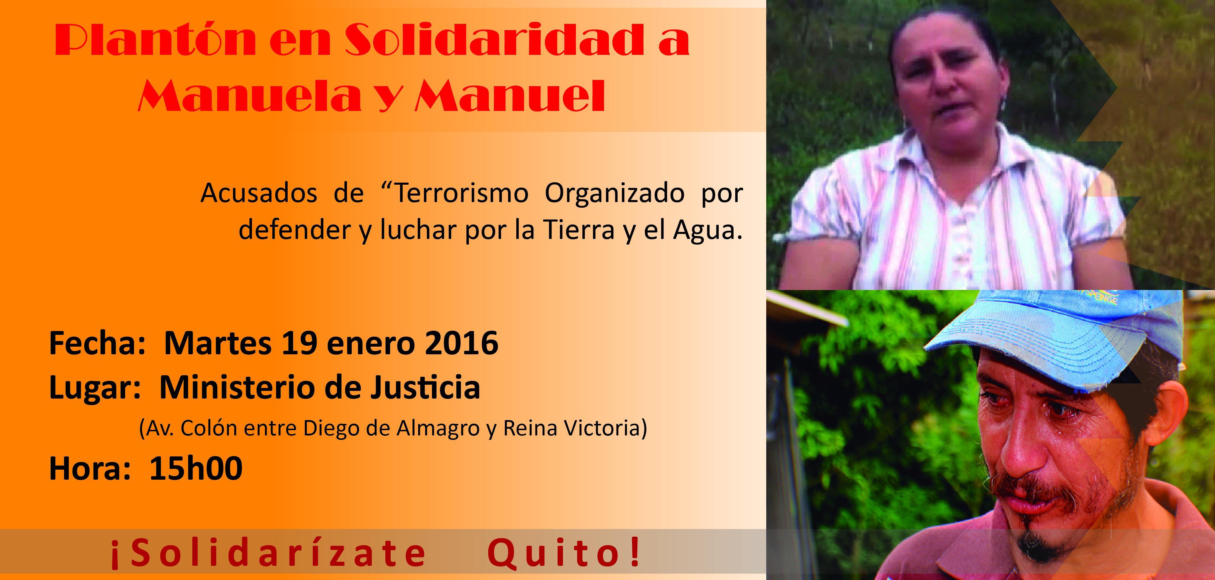Plantón Quito - Manuela Manuel
