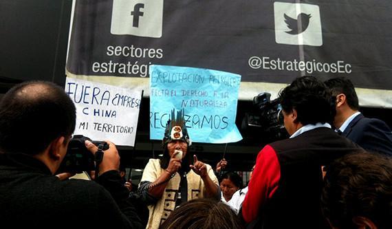 A pesar del rechazo de los Sáparas, se firmó el convenio con Andes Petroleum