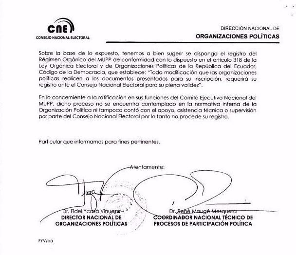 CNE-Niega Fanny Campos