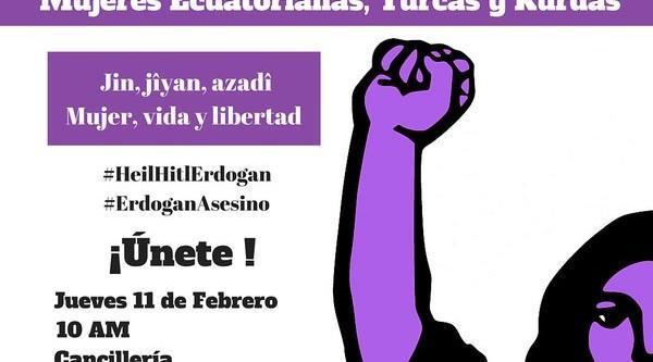 Mujeres agredidas por guardias del presidente Erdogan harán plantón en Cancillería