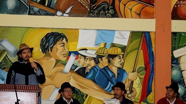 Acto de solidaridad entre criminalizados y procesados en Asamblea de Saraguro