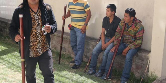 Guardia permanente en CONAIE con la llegada de delegación del Pueblo Sarayaku