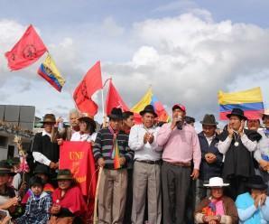 Movimiento Indígena responsabiliza al Estado ecuatoriano por las muertes y desapariciones de hombres y mujeres inocentes en el país