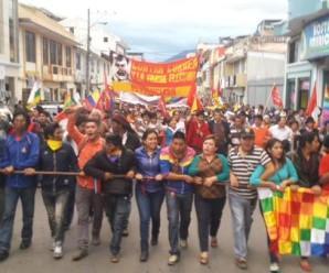 En Loja, Marcha del Sur suma fuerza y Solidaridad popular
