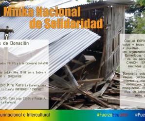 Minka Nacional de Solidaridad por hermanos y hermanas campesinos, indígenas y el pueblo de la Costa Ecuatoriana