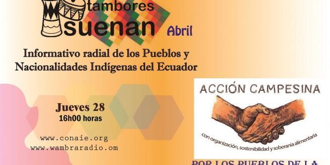 Radio Revista-Tambores Suenan-Solidarios y Solidarias-Abril