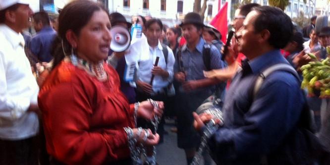 Dos miembros del pueblo Kichwa de Saraguro, Ecuador, sentenciados a 4 años de Cárcel por defender los Derechos Humanos