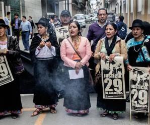 Continúa la criminalización de la protesta social en Ecuador, 12 personas más son llamadas a Juicio en Saraguro