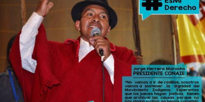 Jorge Herrera, presidente de CONAIE, y 7 dirigentes más en miras de la Justicia Correísta