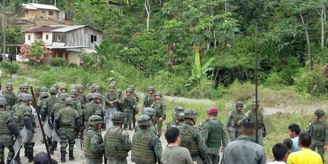 La militarización del territorio shuar provoca mayor violencia y violaciones de Derechos Humanos. CONAIE exige cese al terror impuesto por las operaciones de las FFAA en #Nankints