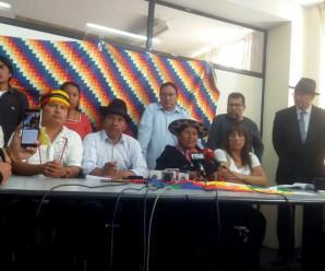 CONAIE exige respeto a la autodeterminación de los pueblos indígenas