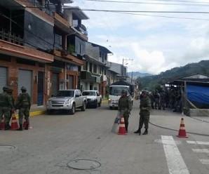 San Juan Bosco MILITARIZADO, así lo afirman voceros de CONAIE que se encuentran en el sitio