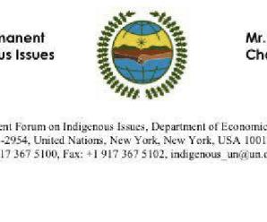 Foro permanente de Naciones Unidas sede Nueva York hace llamado a solución pacífica en territorio Shuar