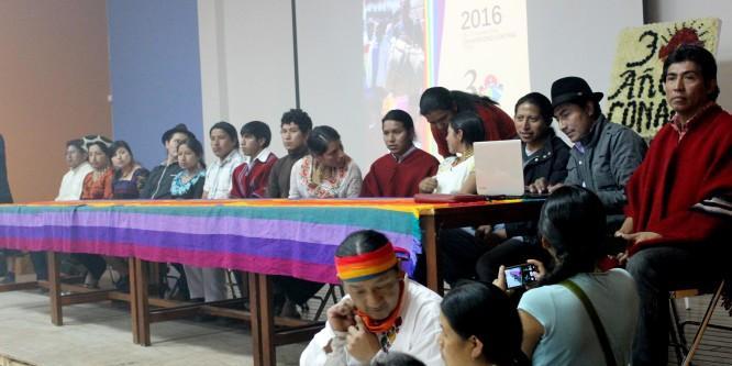 Continuar con el legado histórico del Movimiento Indígena de Ecuador: Declaratoria del III Campamento de Jóvenes