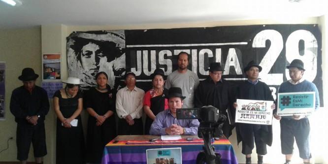 Pueblo Saraguro rechaza condena en contra 5 personas