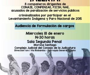 Principales dirigentes del Movimiento Indígena del Ecuador continúan en la mira del Gobierno