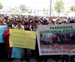 Comuneros del cantón Cayambe exigen a MAGAP que cumpla con la obra de riego