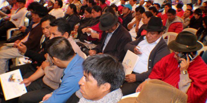 Asamblea de la CONAIE concluyó con plantón en solidaridad con Agustín Wachapá