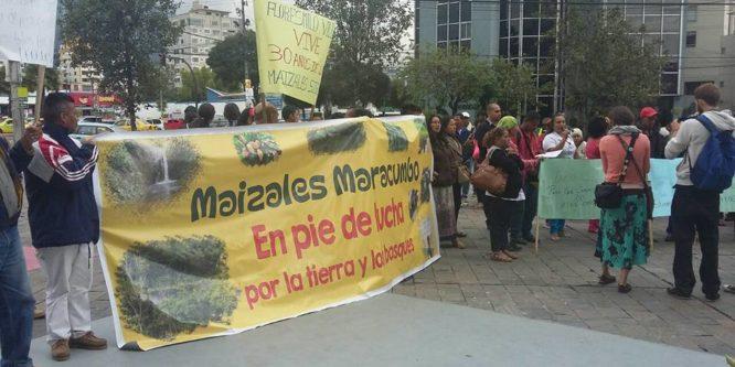 Campesinxs de Maizales Maracumbo exigen a Correa que cumpla su promesa de varios años