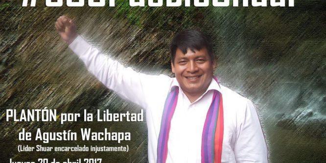 CONAIE y MICC invitan a plantón por la Libertad de Agustín Wachapá