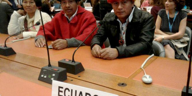 Organizaciones indígenas denuncian criminalización de la protesta social en Ecuador ante la ONU