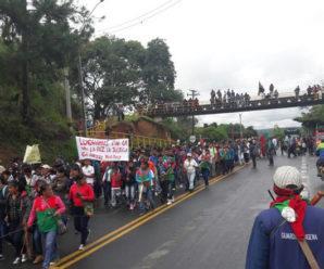 Indígenas del Cauca marcharon para denunciar asesinatos de sus líderes