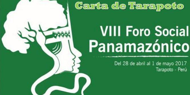 Carta del VIII Foro Social Panamazónico