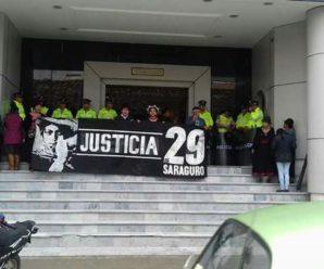 CONAIE ante Audiencia de Juzgamiento en contra 12 personas del pueblo Saraguro