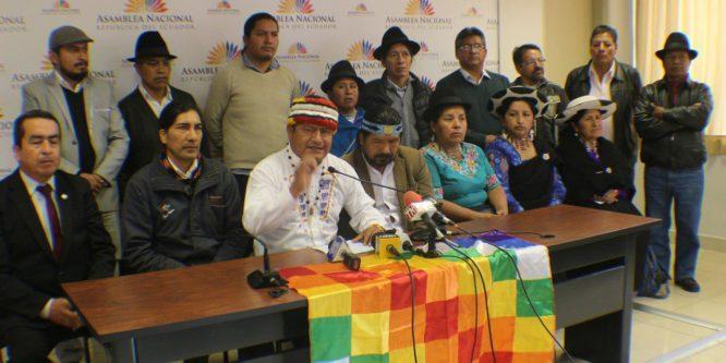 CONAIE, Ecuarunari y Pachakutik señalan lucha frontal contra la corrupción