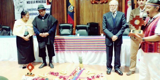 Pueblos Kichwas del Norte entregan reconocimiento y apoyo a la gestión de Cesar Trujillo y Luis Macas