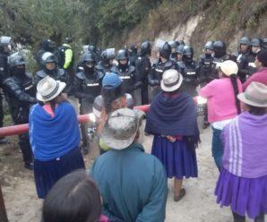 Continúa hostigamiento y represión en Molleturo – Azuay