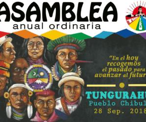 La Confederación de Nacionalidades Indígenas del Ecuador – CONAIE prepara su asamblea ordinaria