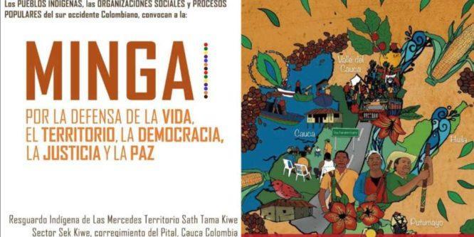 LA CONAIE RESPALDA LA MINGA NACIONAL INDIGENA, CAMPESINA Y POPULAR DEL CAUCA- COLOMBIA