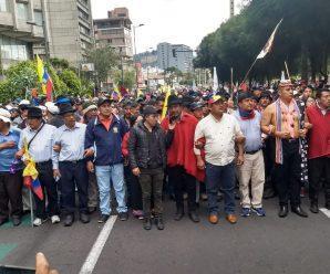 Séptimo día de movilización nacional del movimiento indígena