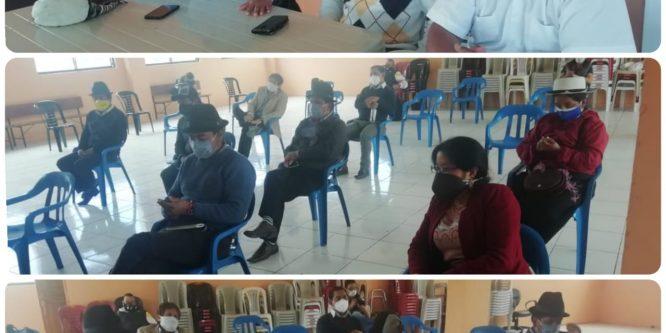Reunión presencial con el Comité Ejecutivo del Movimiento Pachakutik y precandidatos