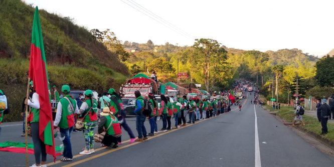 RESPALDO A LA MINGA NACIONAL INDÍGENA, CAMPESINA Y POPULAR DE COLOMBIA